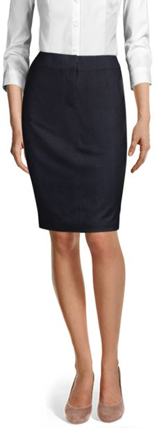 Discover made-to-measure fashion for women. Personalise your female suits, shirts, jackets and skirts at the best price. Business Skirts, Love Fashion, Womens Fashion, High Waisted Pencil Skirt, Tailored Suits, Wool Skirts, Grey Stripes, Custom Clothes, Suits For Women