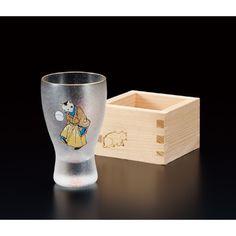 【江戸猫】手まり猫枡酒グラス