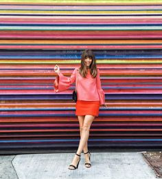 Jenny Cipoletti is seeing stripes... and the MILLY Modern Mini skirt!
