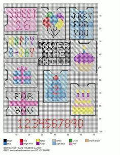 BIRTHDAY GIFT CARD HOLDERS by JODY
