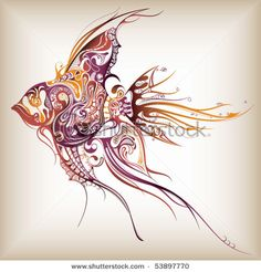 not interested in getting a fish done, but this style might translate to something else.
