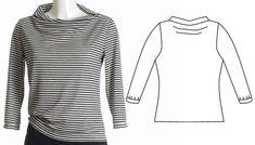 Oberteile & Jacken - Shirt mit 3/4 Arm 34-52 QUICK&EASY SCHNITTM... - ein Designerstück von schnittvision bei DaWanda