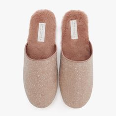 FAUX FUR SHIMMERY SLIPPERS