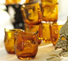Owl Barware, Set of 4 | Pottery Barn