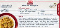 Regaliamoci un primo semplice, ma goloso, adatto ad un pranzo speciale: tagliatelle Emiliane #Barilla con speck e carciofi.