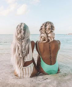 42 Gorgeous Wedding Hairstyles---half up half down wedding hairstyles with braids, beach weddings, summer wedding ideas Pretty Hairstyles, Braided Hairstyles, Wedding Hairstyles, Beach Hairstyles, Hair Day, Your Hair, Hair Inspo, Hair Inspiration, Prom Hair