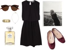 A fashion look from September 2014 featuring ballerina flat shoes, yellow gold bangle and chain pendant necklace. Browse and shop related looks. Elite Fashion, Slow Fashion, Smart Casual Work, Basic Wardrobe Essentials, Casual Chic Summer, Minimal Wardrobe, Parisian Style, Timeless Fashion, Style Guides