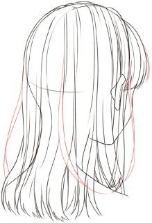 Hair Reference, Drawing Reference Poses, Drawing Poses, Drawing Tips, Anime Drawings Sketches, Anime Sketch, Drawing Hair Tutorial, Manga Hair, Hair Sketch