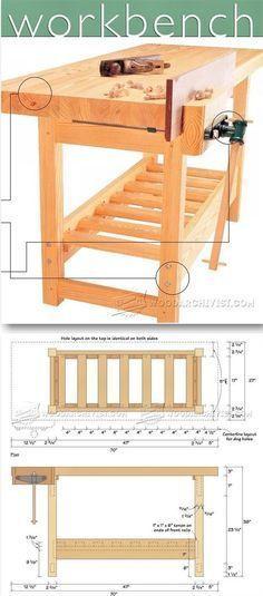 Wood Workbench Plan - Workshop Solutions Plans, Tips and Tricks | http://WoodArchivist.com