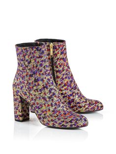 KURT GEIGER LONDON Nova Jacquard Ankle Boots - NEW IN ❤️!!
