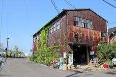 Garage Design, Exterior Design, House Design, Derelict Buildings, Metal Buildings, Lofts, Fish Garden, Warehouse Home, Barn Pictures