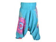 "Tyrkysové turecké kalhoty-overal-halena 3v1 ""Mandala"", barevné mandaly, žabičkov Harem Pants, Fashion, Moda, La Mode, Harlem Pants, Fasion, Fashion Models, Trendy Fashion, Harem Trousers"
