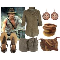 Indiana Jones inspired outfit, perfect for the cruise :)