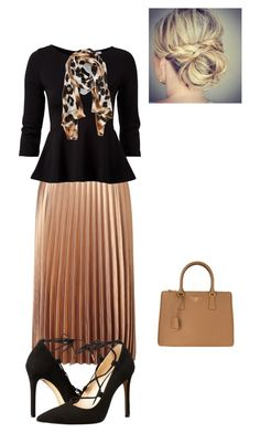 Untitled #885 by bye18 on Polyvore featuring VILA, Miss Selfridge, Massimo Matteo, Prada and Collection XIIX