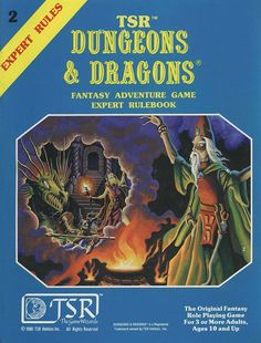 D&D Expert Set Rulebook (B/X ed.) (Basic) | Book cover and interior art for Dungeons and Dragons Basic and Expert Editions - Dungeons & Dragons, D&D, DND, Basic, Expert, 1st Edition, 1st Ed., 1.0, 1E, OSRIC, OSR, Roleplaying Game, Role Playing Game, RPG, Wizards of the Coast, WotC, TSR Inc. | Create your own roleplaying game books w/ RPG Bard: www.rpgbard.com | Not Trusty Sword art: click artwork for source