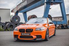 Carbonfiber Dynamics Fire Orange #BWM M5 by 3DDesign  #cars #sportscar #orange #cartunign #turbo  More >> http://www.motoringexposure.com/vehicle-make/bmw/