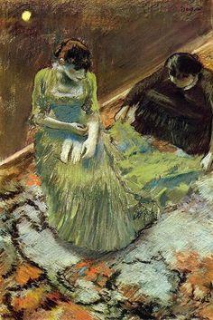 Edgar Degas - Before the Curtain Call (1892)