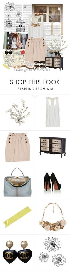 """Postcards & birdcages."" by angieleila ❤ liked on Polyvore featuring Børn, Ashish, United Bamboo, LIST, Fendi, 3.1 Phillip Lim, KG Kurt Geiger, Forever 21, Chanel and WALL"
