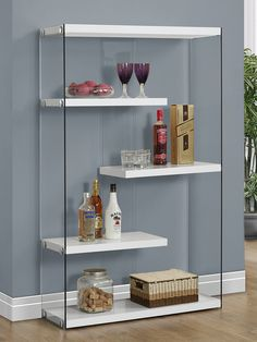 Hollow-Core Bookcase by Monarch Specialties at Gilt
