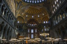 I took this picture in 2011. The Hagia Sophia (Ayasofya in Turkish, Ἁγία Σοφία in Greek) in Istanbul. Built in 537, it was the heart of the Byzantine Empire. It remains one of history's most amazing structures.