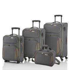 #Kofferset travelite Orbit bei Koffermarkt: ✓Farbe: anthrazit ✓4 Rollen ✓mit Bordtasche ✓erweiterbares Volumen ✓leicht es Weichgepäck
