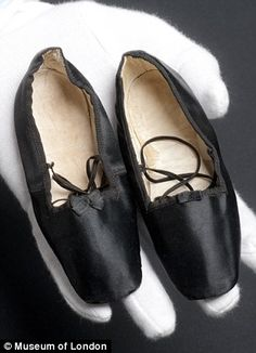 Shoes belonging to Queen Victoria's daughter, Princess Beatrice, who was born in 1857