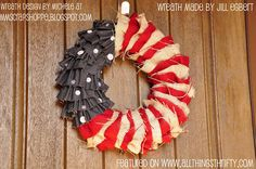 patriotic wreath from All Things Thrifty