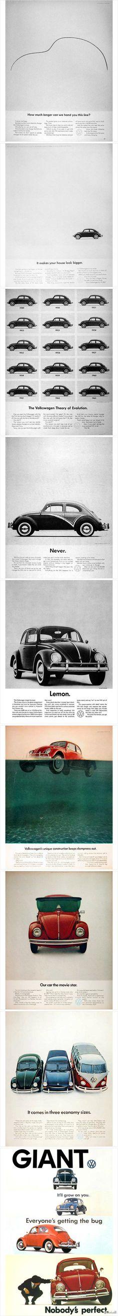 Volkswagen Beetle Ad Compile, Bill Bernbach, DDB