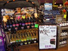 look at these wicked awesome halloween displays that were at country spirits discount liquors in spencer we love it