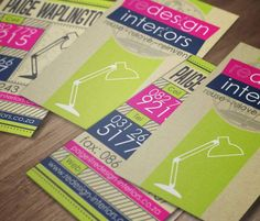 Business Card Design for Redesign Interiors  Programmes Used: CorelDRAW  Company worked for: Crystal Media (www.crystalmedia.co.za)