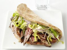 Steak and Hummus Sandwiches from FoodNetwork.com