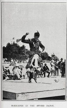 MCKECHNIE IN THE SWORD DANCE, 1905.