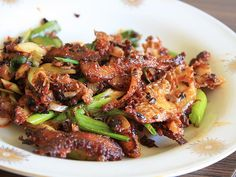 Stir-fried Tripe with Chili Bean Paste