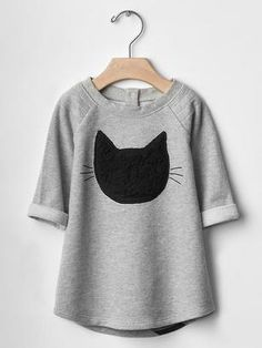 Gap Black cat dress