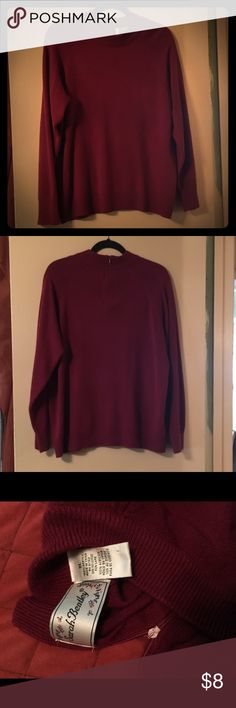 Beautiful Soft Sweater Beautiful sweater, burnt red color, zip up on back, size XL, gently used Sweaters Cowl & Turtlenecks