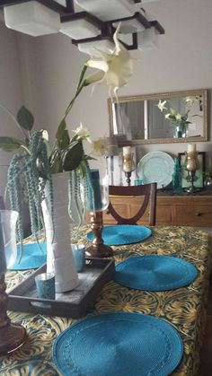 Dining decor and centerpiece
