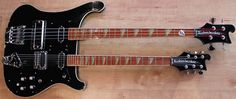 Rickenbacker 4080 Double Neck – Bass & Six String Guitar in Jetglo