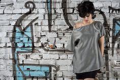 #gabrielladeplano #fashion #collection2013 # tshirt #metallic #moda #madeinitaly #gray #double #haori #japanese