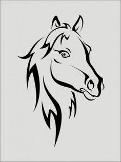 Stencil, horse head image is 4.5 x 6.5 | Oklahomastencilcompany - Handmade Supplies on ArtFire-Ryanne & Ellie Kate projects