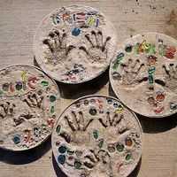 Create a lasting impression with family and friends and capture a bit of your child's youth with a handcrafted stepping stone. Preserve your child's handprint or footprints on a stepping stone to keep in your garden or to give to grandparents, aunts or close friends.  A single sack of cement and plastic plant saucers are the basic...