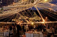 back yard wedding tent Wedding Reception Lighting, Marquee Wedding, Tent Wedding, Wedding Bells, Party Lighting, Tent Lighting, Ribbon Wedding, Yard Wedding, Tent Reception