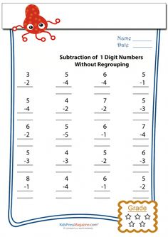 Subtraction is a hoot for your grade math student when you supplement with this fun subtraction worksheet! These simple math problems Worksheets For Class 1, 2nd Grade Math Worksheets, 1st Grade Math, Help Teaching, Teaching Tools, Teacher Resources, First Grade Homework, Subtraction Worksheets, Simple Math