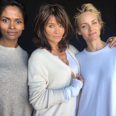 Karen Alexander, Helena Christensen and Amber Valletta without makeup and retouching. ❤️