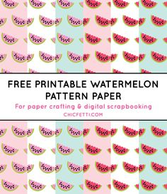 Free Printable Watermelon Digital Paper from @chicfetti