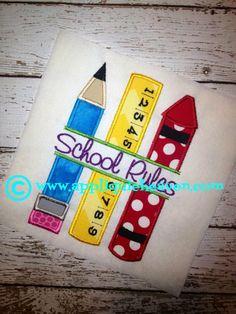 Split Ruler Crayon and Pencil