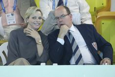 Princess Charlene and Prince Albert of Monaco attend Mare Nostrum swimming competition - Photo 2 | HELLO!