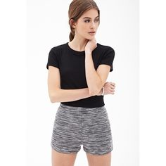 High waisted marled knit shorts Cute marled knit shorts with a high waist. Soft and stretchy fabric for a form fitting look. New with tag. Size is XS but can fit a size S. Forever 21 Shorts