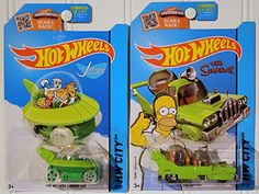 2015 Hot Wheels Hw City: THE JETSONS Capsule Car & The Simpsons: The Homer - Set of 2! @ niftywarehouse.com