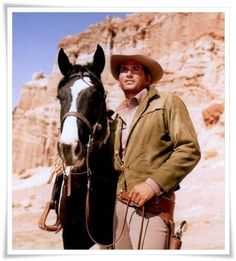 Michael Landon; Little Joe Cartwright                                              Classic TV Western Bonanza (And his beautiful horse!!)