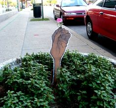 Have a flower...  by ~TaintNotThyMind  Traditional Art / Street Art / Installations
